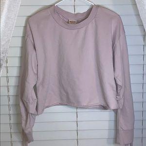 Light purple Mossimo cropped sweatshirt